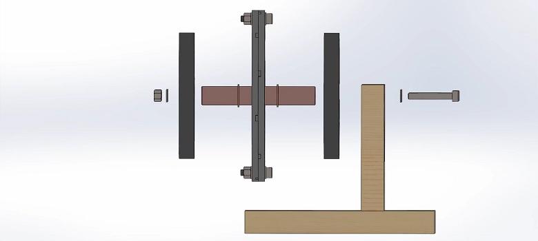 Aksijalni motor s permanentnim magnetima